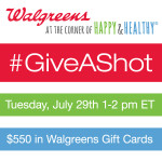 Join me for #GiveAShot Twitter Party 7/29