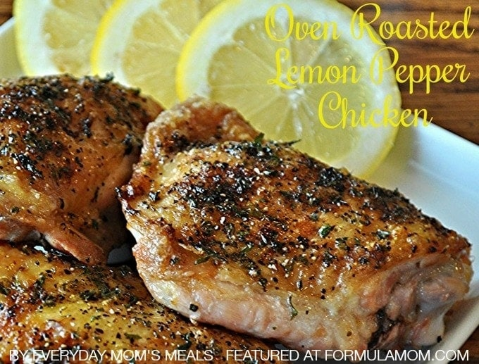 Oven Roasted Lemon Pepper Chicken #recipe