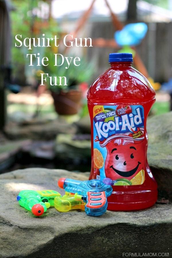 Squirt Gun Tie Dye Fun with Juice Drinks #KoolOff #shop