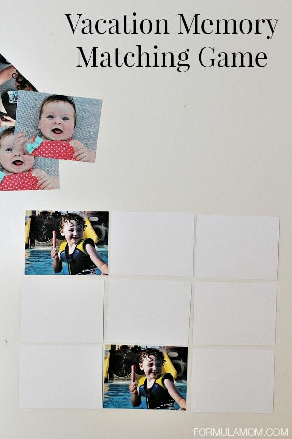 Vacation Memory Book Alternative: Memory Matching Game #HPfamilytime