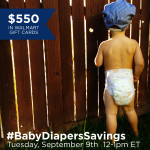 RSVP for #BabyDiapersSavings Twitter Party 9/9