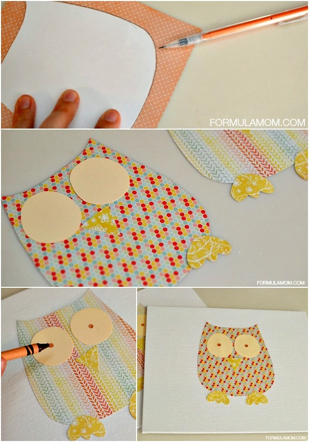 How to Make a Grandparents Day Handprint Gift Owl #grandparentsday #crafts