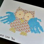 Grandparents Day Handprint Owl Gift