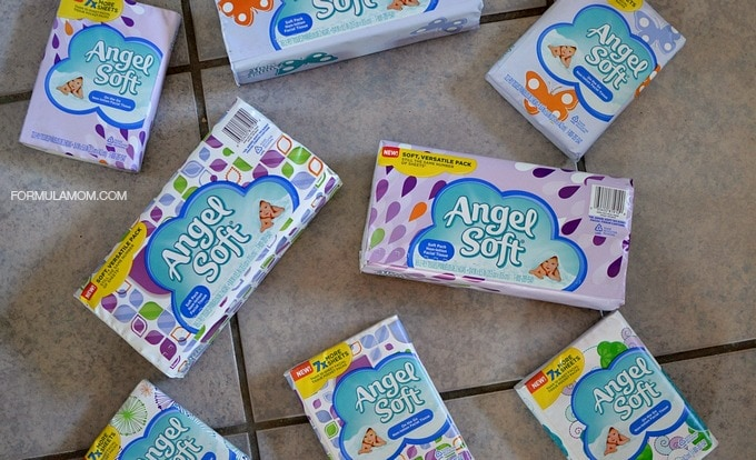 Preparing for Back to School with Angel Soft Facial Tissue Soft Packs