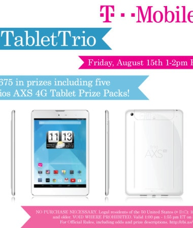 #TabletTrio Twitter Party 8/15 #shop #cbias #TwitterParty
