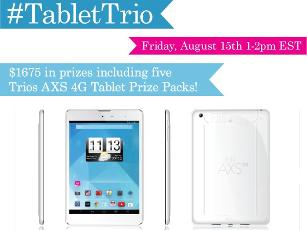 RSVP for the #TabletTrio Twitter Party 8/15