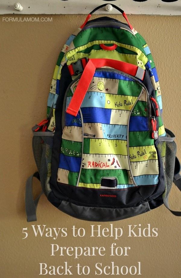 5 Ways to Help Kids Prepare for Back to School #backtoschool