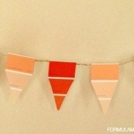 Easy Paint Chip Candy Corn Banner