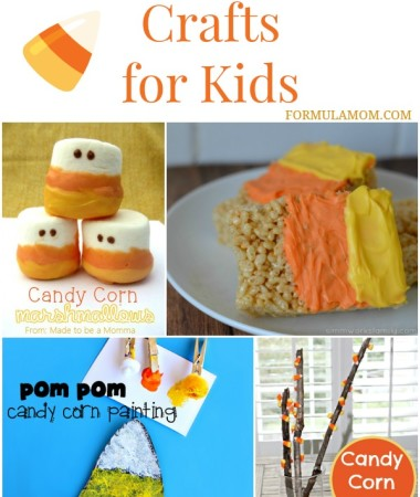13 Candy Corn Crafts for Kids #Halloween #candycorn #crafts