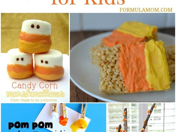13 Candy Corn Crafts for Kids