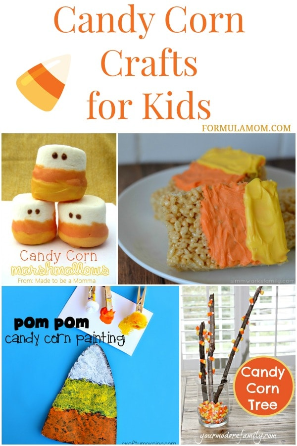 13 Candy Corn Crafts For Kids Halloween candycorn