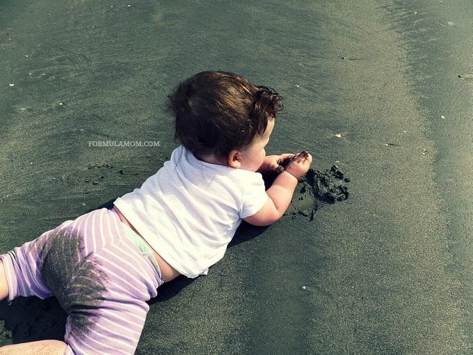 Baby's First Beach Trip #Galveston #TX #familytravel
