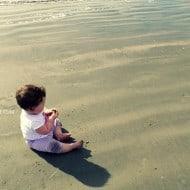 Baby's First Beach Trip to Galveston
