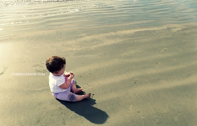 Baby's First Beach Trip to Galveston