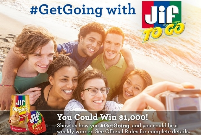 Enter the Jif To Go #GetGoing Promotion