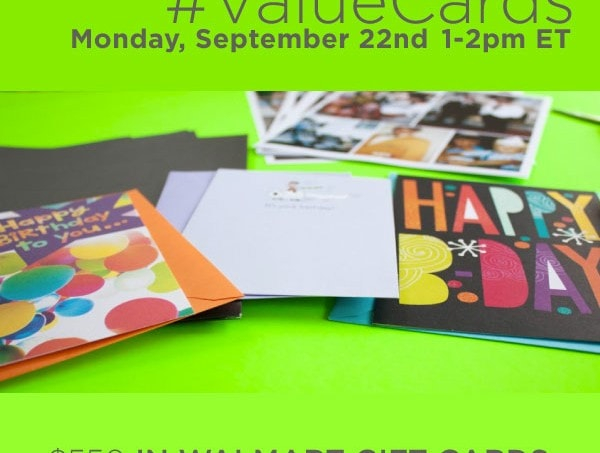 Join the #ValueCards #TwitterParty on 9/22 #shop #cbias