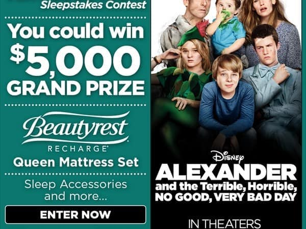 """Terrific, Wonderful, Awesome, Very Good Night"" Sleepstakes Contest"