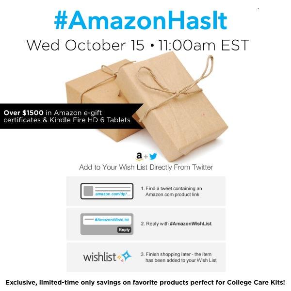 #AmazonHasIt Twitter Party 10/15 #cbias #shop #TwitterParty