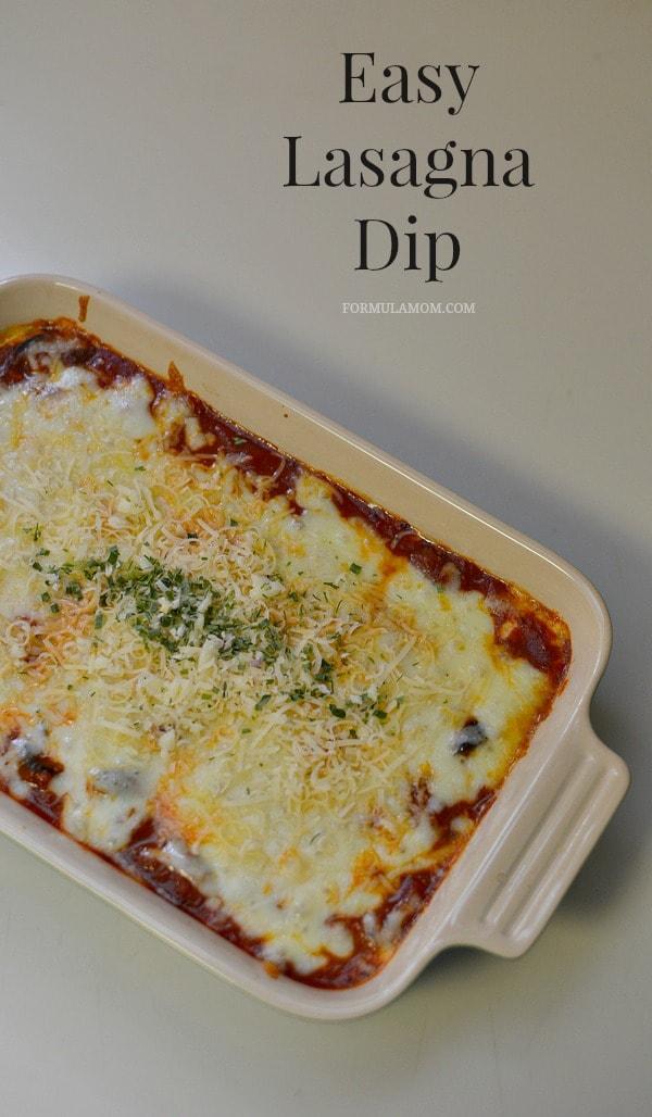Easy Lasagna Dip #NewTraDish