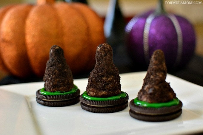 Edible Halloween Witches Hats Cookies to Make with Kids #Halloween