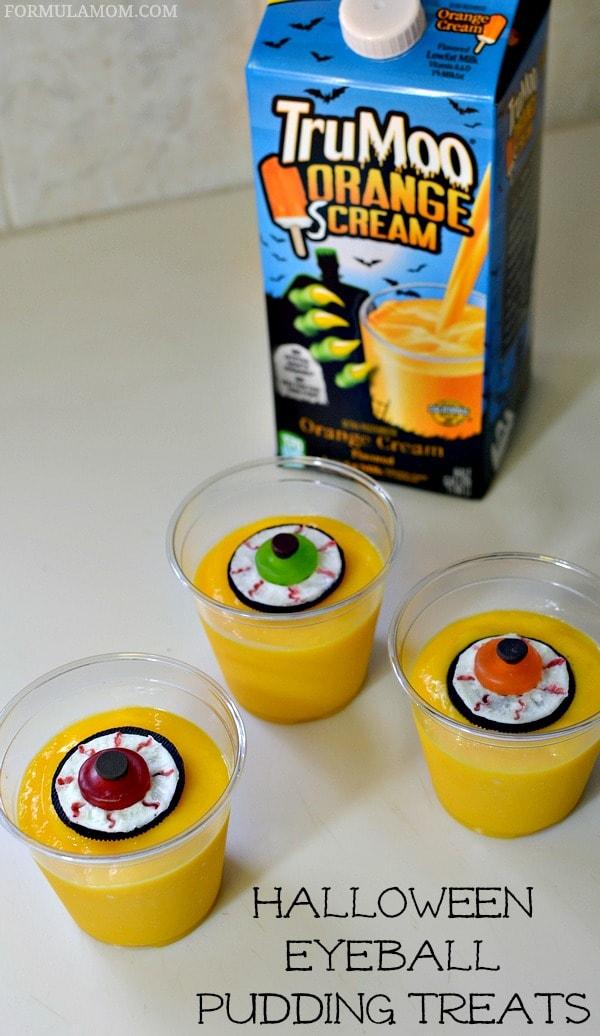 Eyeball Halloween Pudding Treats #Halloween
