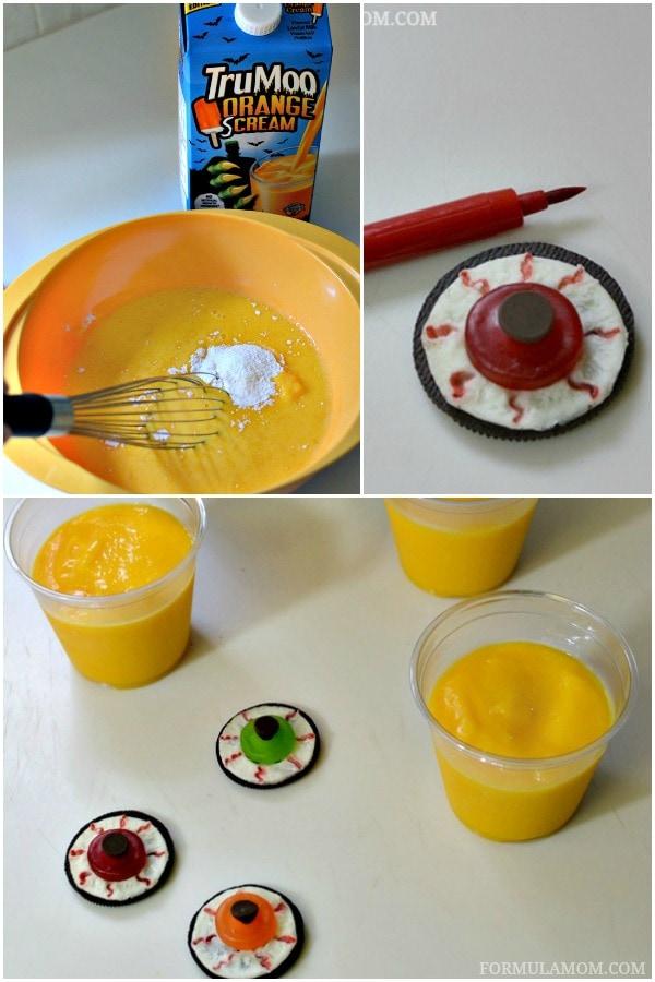 How to Make Eyeball Halloween Pudding Treats #Halloween