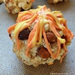 Fall Heath Toffee Popcorn Balls