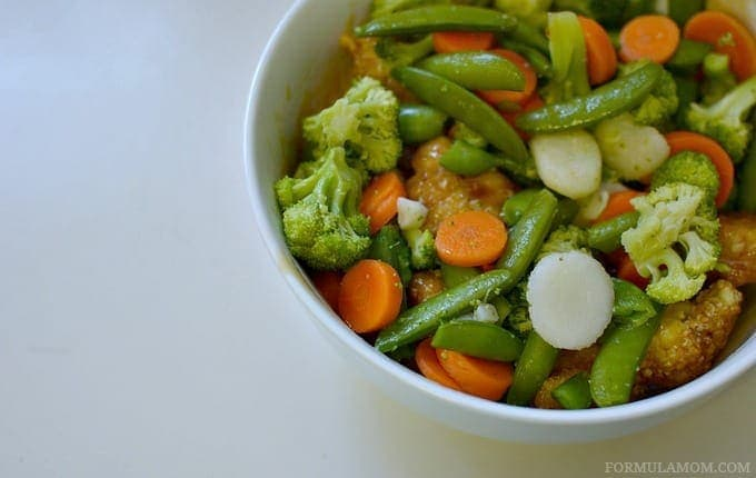 Birds Eye Vegetables in Easiest Chicken Stir Fry #ILikeVeggies