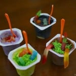 Halloween Pudding Cups Snack Bar with Snack Pack