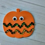 Easy Sequin Pumpkin Craft