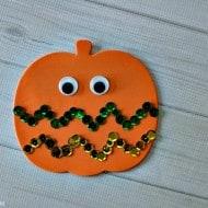 Easy Sequin Pumpkin Craft