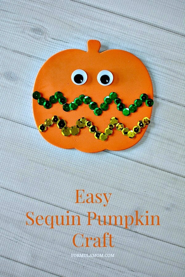 Pumpkin Craft Ideas For Kids Part - 41: Easy Sequin Pumpkin Craft #Halloween