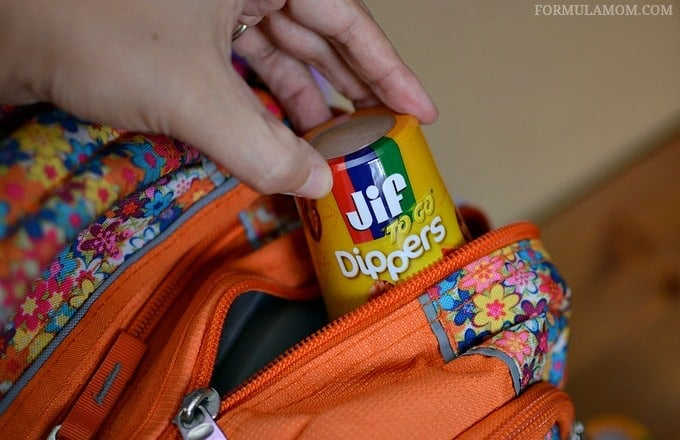 Snack TIme on the Go with Jif to Go Dippers #GetGoing
