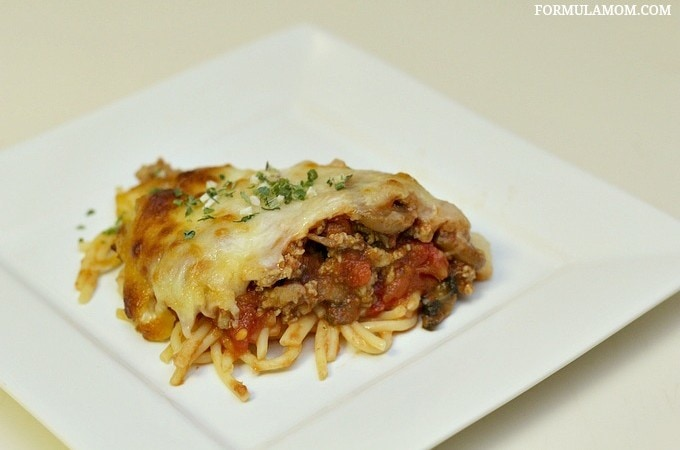 Try this great Spaghetti Pie recipe for dinner tonight! #FlavorServed