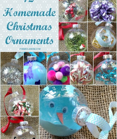 12 Homemade Christmas Ornament Ideas - All you need are clear ornaments!