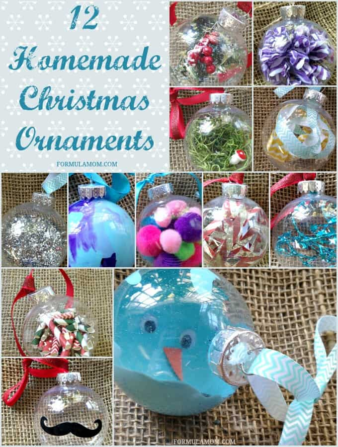 12 Homemade Christmas Ornament Ideas #Christmas #DIY