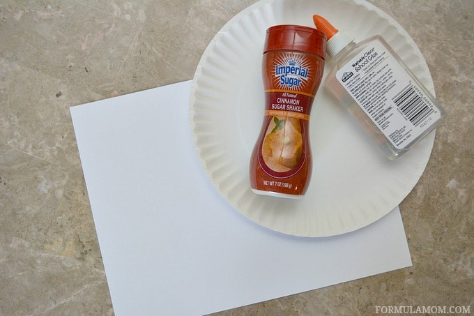 What You Need to Make Cinnamon Sugar Turkey Handprint Craft for Toddlers #Thanksgiving