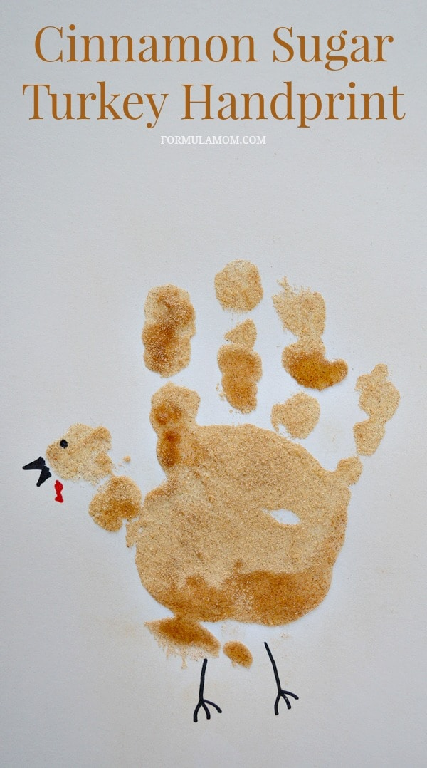 Cinnamon Sugar Turkey Handprint Craft for Toddlers for Thanksgiving #Thanksgiving #crafts