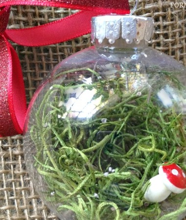 DIY Christmas Ornaments: Fairy Garden Ornament Idea #Christmas #DIY