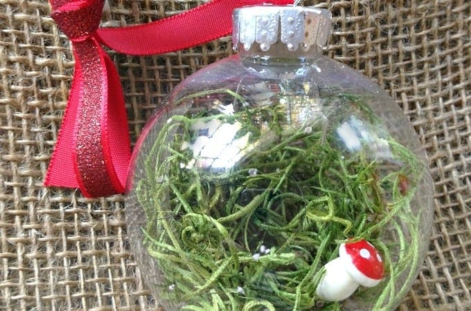 DIY Christmas Ornaments: Fairy Garden Ornament Idea #Christmas #DIY