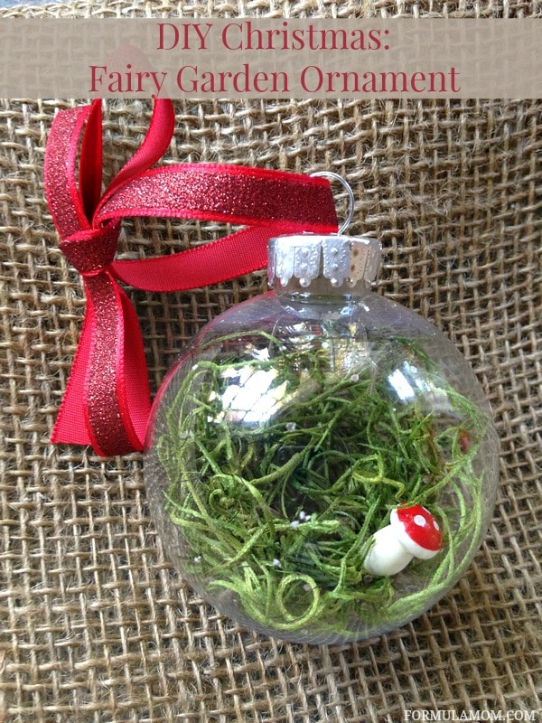 12 Days of DIY Christmas Ornaments: Fairy Garden Ornament ...