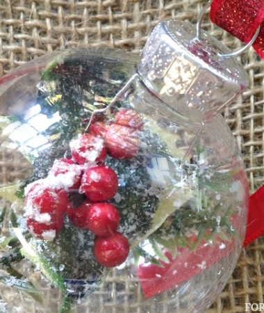DIY Christmas Ornaments Ideas: Frosty Pine Ornament for Christmas Home Decor