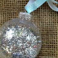 12 Days of DIY Christmas Ornaments: Glitter Ornament