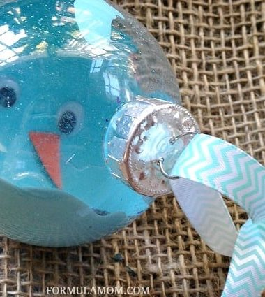 DIY Christmas Ornaments Ideas: Melted Snowman Ornament #Christmas #homemade