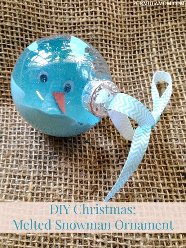 12 Days of DIY Christmas Ornaments: Melted Snowman Ornament #Christmas #DIY