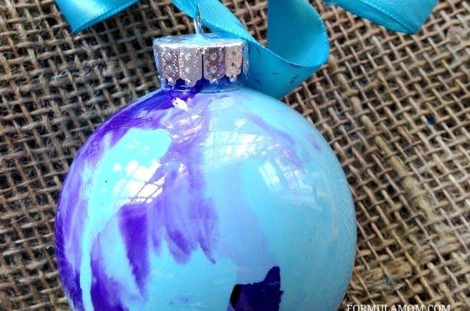 12 Days of DIY Christmas Ornaments: Swirl Paint Ornament