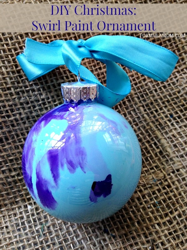 12 Days of DIY Christmas Ornaments: Swirl Paint Ornament ...