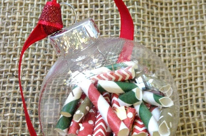 12 Days of DIY Christmas Ornaments: Paper Straw Ornament