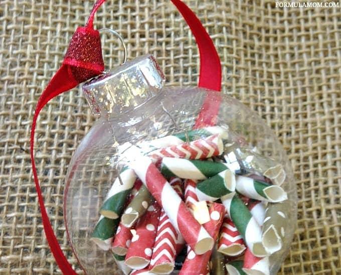 DIY Christmas Ornaments Idea: Paper Straws Ornament #Christmas #DIY
