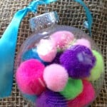 DIY Christmas Ornaments: Pom Pom Ornament Craft #Christmas #DIY